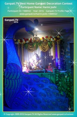 Harini Joshi Ganpati Decoration
