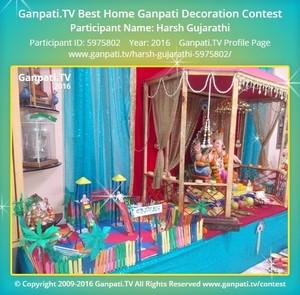 Harsh Gujarathi Ganpati Decoration