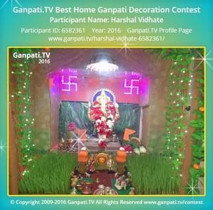 Harshal Vidhate Ganpati Decoration