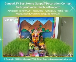 Harshini Barapatre Ganpati Decoration