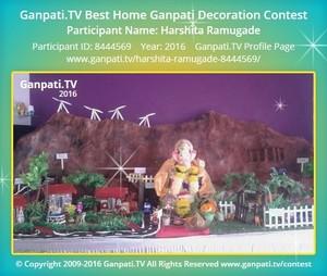 Harshita Ramugade Ganpati Decoration