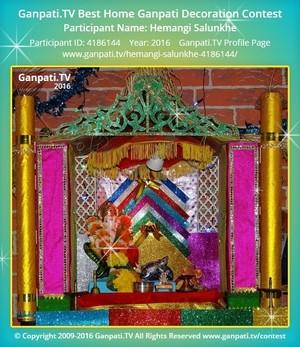 Hemangi Salunkhe Ganpati Decoration