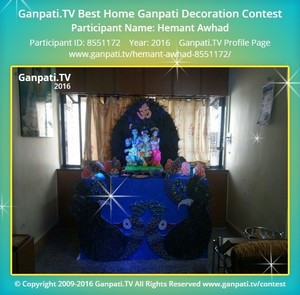 Hemant Awhad Ganpati Decoration