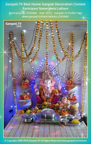 Hetal Lakhani Ganpati Decoration