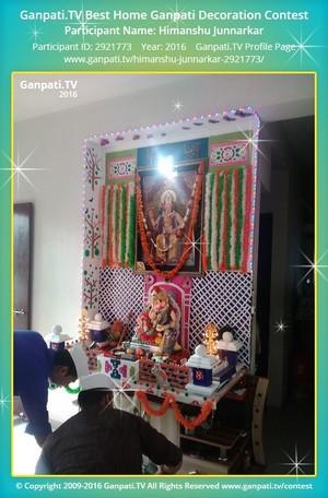 Himanshu Junnarkar Ganpati Decoration