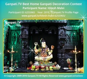 Hitesh Malvi Ganpati Decoration