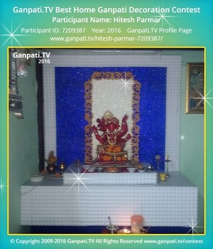 Hitesh Parmar Ganpati Decoration