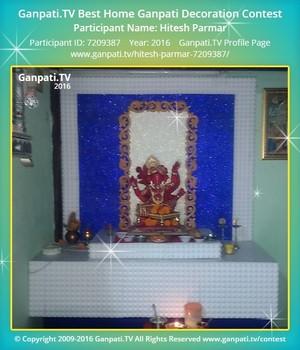 Hitesh Parmar Ganpati Decoration