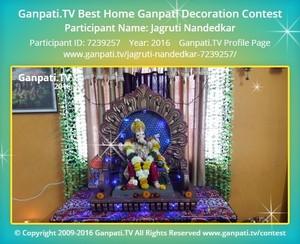 Jagruti Nandedkar Ganpati Decoration