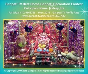 Jaideep Jire Ganpati Decoration