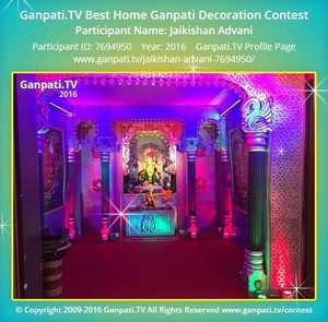 Jaikishan Advani Ganpati Decoration