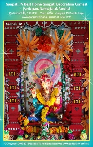 Janak Panchal Ganpati Decoration