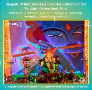 Jitesh Patel Ganpati Decoration
