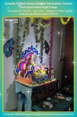 Kajol Pratap Ganpati Decoration