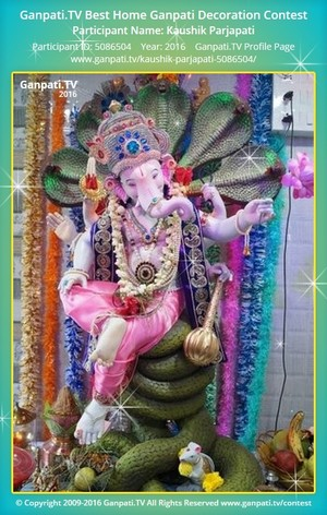 Kaushik Parjapati Ganpati Decoration