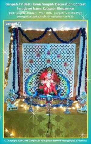 Kaustubh Bhogaonkar Ganpati Decoration