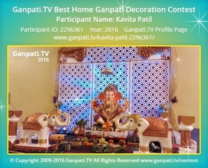 Kavita Patil Ganpati Decoration