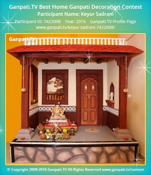 Keyur sadrani ganpati tv Ganpati decoration design for home