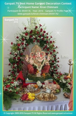 Kiran Chimnani Ganpati Decoration