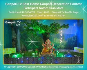 Kiran More Ganpati Decoration