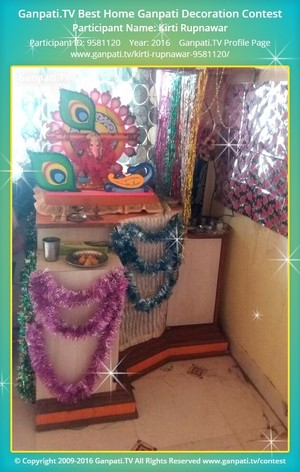 Kirti Rupnawar Ganpati Decoration