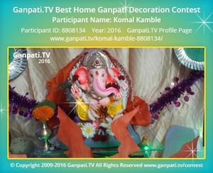 Komal Kamble Ganpati Decoration
