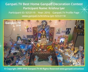 Krishna Iyer Ganpati Decoration