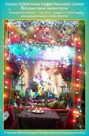 Lakshmi Shirke Ganpati Decoration