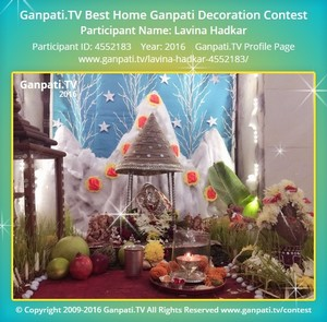 Lavina Hadkar Ganpati Decoration