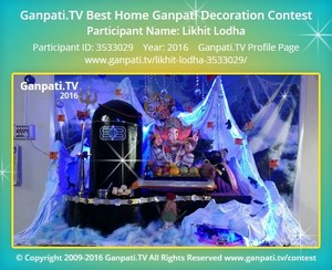 Likhit Lodha Ganpati Decoration