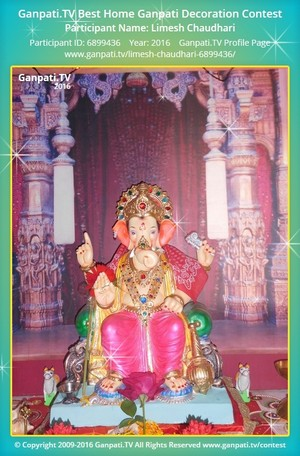 Limesh Chaudhari Ganpati Decoration