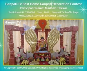 Madhavi Talekar Ganpati Decoration