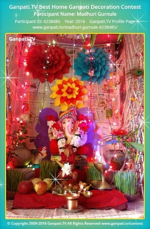 Madhuri Gurnule Ganpati Decoration