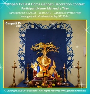 Mahendra Tiley Ganpati Decoration