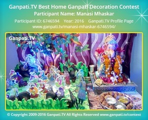 Manasi Mhaskar Ganpati Decoration
