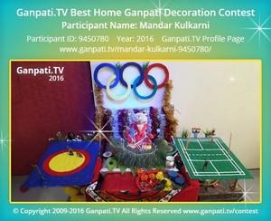 Mandar Kulkarni Ganpati Decoration