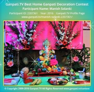 Manish Solanki Ganpati Decoration