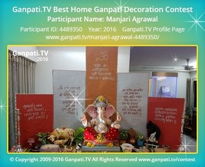 Manjari Agrawal Ganpati Decoration