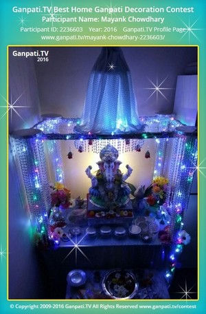 Mayank Chowdhary Ganpati Decoration