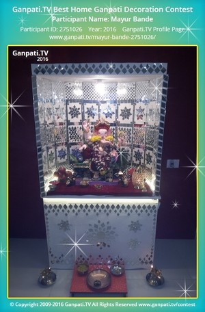 Mayur Bande Ganpati Decoration