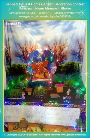 Meenakshi Gholve Ganpati Decoration