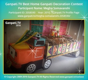 Megha Somavanshi Ganpati Decoration
