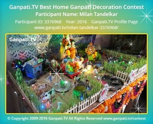 Milan Tandelkar Ganpati Decoration