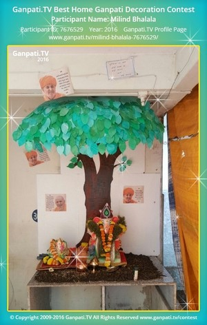 Milind Bhalala Ganpati Decoration