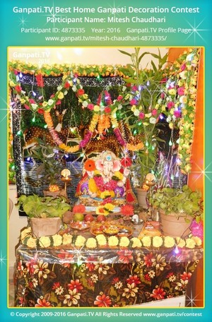 Mitesh Chaudhari Ganpati Decoration