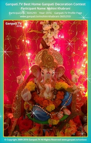 Mohini Khabrani Ganpati Decoration