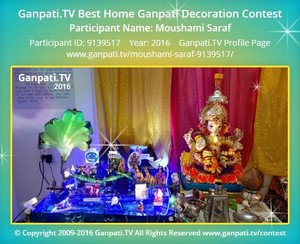 Moushami Saraf Ganpati Decoration