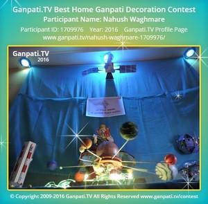 Nahush Waghmare Ganpati Decoration