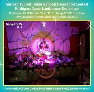 Nandakumar Devrukhkar Ganpati Decoration