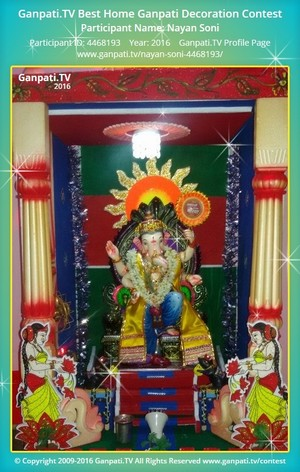 Nayan Soni Ganpati Decoration